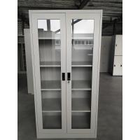 Buy cheap Office design for Glass door swing open four adjusted shelves steel cabinet KD structure from wholesalers