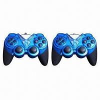 Buy cheap PC USB Double Gamepad with Shocks and Plug-and-play Function from wholesalers