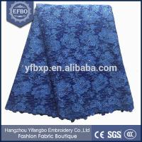 Buy cheap Unique design floral embroidered tulle lace knitted patterns mesh fabric for clothing from wholesalers