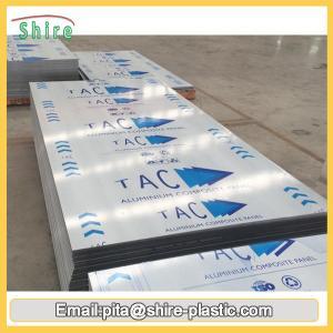China Acrylic Glue Sticky Aluminum Sheet Protective Film 1250mm Width Anti Dust on sale
