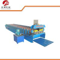 Buy cheap Hydraulic Aluminium High Rib Trapezoidal Sheet Roll Forming Machine for Construction from wholesalers