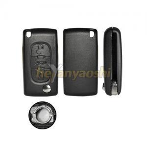 Buy cheap PSA  3 Button Flip Key , Lock / Unlock Folding Remote Key Broken Proof product
