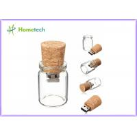Buy cheap Bottle Glass Wooden USB Flash Drive 2.0 For Wedding Giveaways 4GB 8GB product
