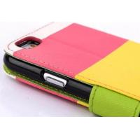Buy cheap Mix Color Stand Flip Wallet Leather Case For Iphone 6 / 5 / 5S / 5C /  4S from wholesalers