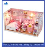 Buy cheap DIY Wooden Miniatura dollhouse Doll House Furniture Handmade 3D Miniature Toys Gifts C002 from wholesalers