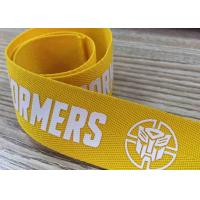 Buy cheap Silk Screen Printed Webbing Woven Tape With Customized Pattern Poly Band from wholesalers