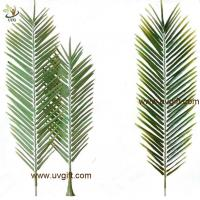 China UVG PTR043 new design PU real touch artificial palm tree leaves for club landscaping on sale