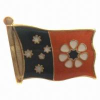 Buy cheap Bronze Badge Lapel Pin with Soft Enamel, Soft Cloisonne and Photo Etching Process from wholesalers