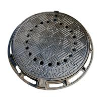 Buy cheap B7090R Anti-dust fall ductile cast iron manhole cover metal drain covers with frame diameter 700*900mm sale price from wholesalers