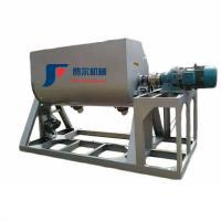 Spiral Horizontal Ribbon Mixer Machine , Fertilizer Mixer Machine Stainless Steel Material