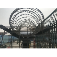 Buy cheap 358 high security wire fence 12.7mm x 76.20mm diameter 3.00mm/4.00mm powder coated RAL 9001 from wholesalers