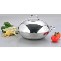 2Pcs 3-ply stainless steel cookware wok SHSW-1006