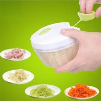 Buy cheap Manual Pull On The Rope Rotating Vegetable Cutter Mini Hand Pulling vegetable Fruit Cutting Cho from wholesalers