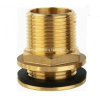 Buy cheap 15mm od yellow brass color forged brass compression fitting straight threaded water tank connector from wholesalers