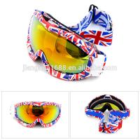 Buy cheap high quality adult anti-fog pc lens water transfer printing frame ski goggles with uk flag from wholesalers