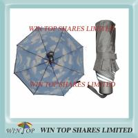 Buy cheap Blue sky white cloud 2 layers cover folding umbrella from wholesalers