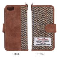 Buy cheap Durable Flip Leather Wallet Case Cover IPhone 5 5S SE Harris Tweed from wholesalers