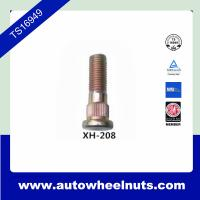 Buy cheap 10.9 Grade Long Zinc Wheel Knurl Stud Replacement O.D.14.2mm Length 48.4mm from wholesalers