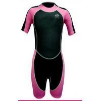 Smooth Skin Neoprene Diving Suit , Kids Neoprene Shorty Wetsuit Waterproof