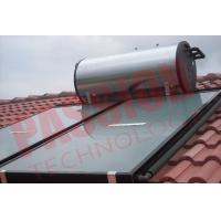 Buy cheap White Steel Compact Pressure Flat Panel Solar Hot Water Systems With Solar Collector from wholesalers