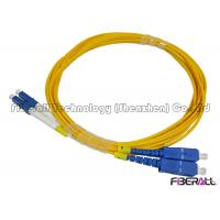 Buy cheap Carrier Grade Single Mode Optical Fiber Patch Cord SC To LC Duplex Fiber Jumper from wholesalers