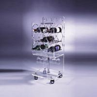 Buy cheap Clear Acrylic Wine Display Stand Holder For Serving Handcart from wholesalers