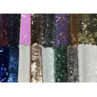 China Reversible Colorful Mermaid Sequin Fabric , Silver Sequin Material Custom Made on sale