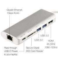Buy cheap USB-C Hub with SD Card Reader Ultra Slim Type-C USB C Adapter with 2 USB 3.0 Ports for MacBook Pro 2017/2016 from wholesalers