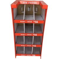Buy cheap Stand Up Exhibition Cardboard Display Stands For Children Babysuit Packing from wholesalers