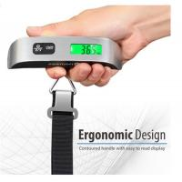 Buy cheap 110 Pounds Digital Hanging Luggage Scale with Rubber Paint Temperature Sensor product
