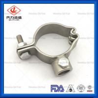 Buy cheap SS 304 Welded Sanitary Pipe Holder 1/2-4 High Strength Long Working Life from wholesalers