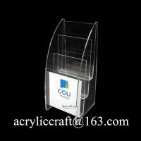 Buy cheap Desktop Acrylic Leaflet Holder, Hot Selling Plexiglass Brochure Stand from wholesalers
