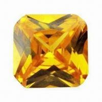 Buy cheap Lab Created Gemstone, Cushion Shape Gold/Yellow Synthetic Diamond for Jewelries and Watches from wholesalers