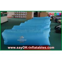 Buy cheap 260 X 70cm Blue Inflatable Sleeping Air Bag Pop Up Sofa With Print Pocket from wholesalers