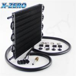 8 Row Universal Transmission Oil Cooler Kit Power Steering Oil Cooler AT / MT