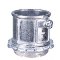 Buy cheap Aluminum Electrical Conduit Fittings , EMT Pipe Connectors Polished Finish product