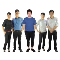 Buy cheap Blue Black 150g 96% Cotton 4% Conductive Fiber ESD T Shirts from wholesalers