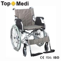 Buy cheap Multifunctional Aluminum Folding Handicapped Ramp Wheelchair for Disabled or Old People from wholesalers