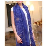 Buy cheap Fashion Tudung Silk Scarf Flower Embroidery Scarf Muslim Tudung Muslim Scarf from wholesalers