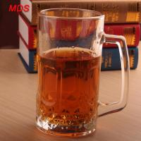 Buy cheap Factory direct large glass engraved beer mug cheap with handle from wholesalers