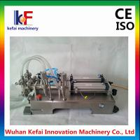 Buy cheap China supplier 1-5000ml semi automatic double head liquid filling machine from wholesalers