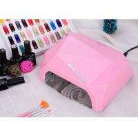 Buy cheap LED UV CCFL LED Nail Lamp Dual Hand Red Diamond Shape With Environment Protection from wholesalers