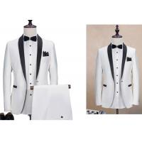 Buy cheap Blazer Men White Wedding Suit / Modern Stylish Wedding Suits 70% Polyester from wholesalers