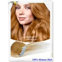Buy cheap The finest European Quality 100% european Virgin Remy Seamless Tape Extensions from wholesalers