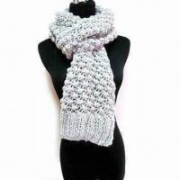 Buy cheap Scarf, Made of 80% Wool and 20% Poly Acrylic, Available in Various Colors from wholesalers