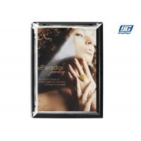 Buy cheap Black Painted Open Snap A1 Poster Frame , Square Corner Poster Clip Holder from wholesalers