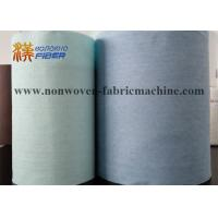 Buy cheap Wood Pulp Fabric Industrial Cleaning Wipes Jumbo Roll Turquoise / Blue Color from wholesalers
