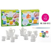 Buy cheap DIY Tea Set Ceramic Painting Kit Children's Play Toys / Educational Arts And Crafts from wholesalers