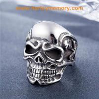 Buy cheap 2018 fashion stainless steel retro skull ring from wholesalers