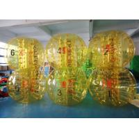 Buy cheap TPU 1.55m Body Zorb Ball , Inflatable Bumper Ball Green Yellow With Branding from wholesalers